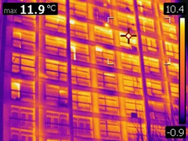 Thermal energy from a building