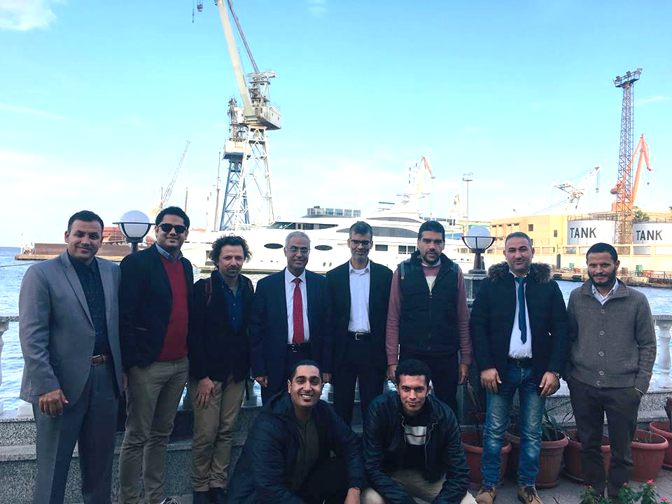 Figure 1. Port Said and Sheffield Universities researchers celebrating the conclusion of a successful Biosolar project meeting