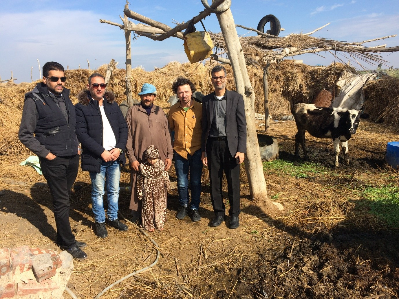 Figure 2. Visit to a farming household near the Mediterranean coast of Egypt, who are the main beneficiaries of the Biosolar project